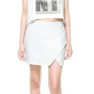 Zara Jacquard Crossover Mini Skirt